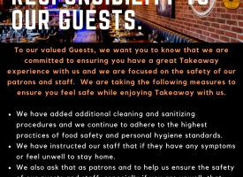COVID-19 - OUR RESPONSIBILITY TO OUR GUESTS
