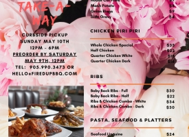 MOTHER'S DAY TAKEAWAY MENU